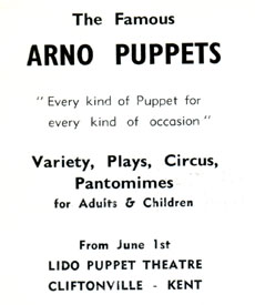 Arno Puppets Advert