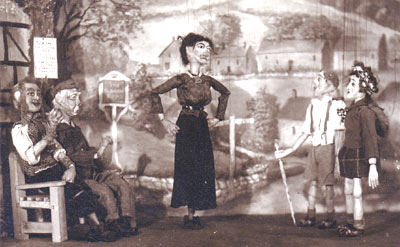 "Marionettes from the play ""Village Society"" by W A Call"