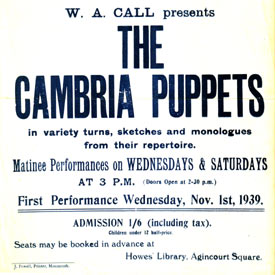 Cambria Puppets Poster