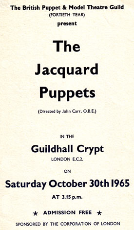 Guildhall Crypt Poster 1965