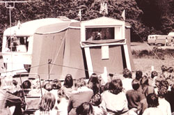 Caravan & Awning Theatre for Glove Puppets