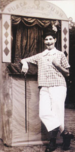 John aged 16 as Clown Dodo
