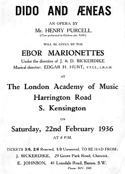 Ebor Marionettes Poster