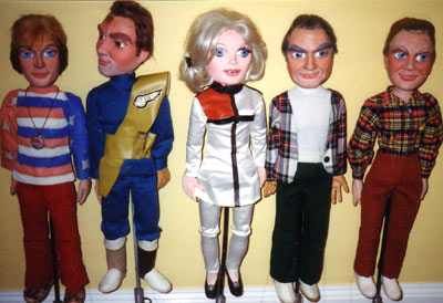 Puppets from the Thunderbirds Stage Show